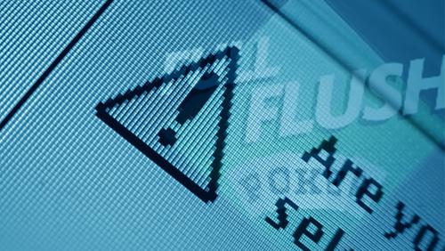 Full Flush Poker domain name acquired; warning notice erected on site