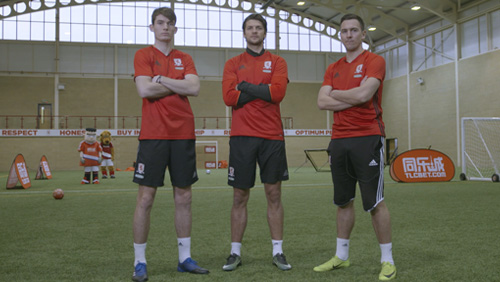 Middlesbrough F.C. take on the TLCBET Obstacle Course Challenge