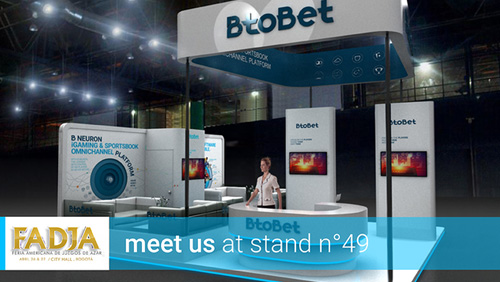 Btobet ready to meet major Latin American operators at FADJA Colombia on 26th – 27th April