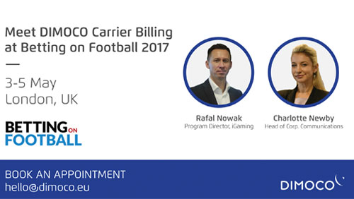DIMOCO to participate in Betting on Football Conference 2017