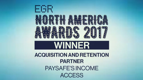 Paysafe's Income Access wins third 'acquisition & retention partner' eGR North America Award