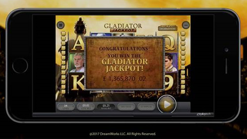 Job centre worker wins £1.36m mobile Gladiator jackpot