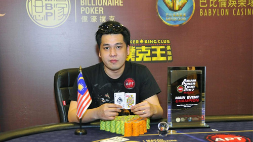 Malaysia's Choong Kian Weng crushes the heads up round to capture the Main Event title