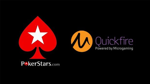 Microgaming casino games live on PokerStars via Quickfire