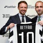 Betfair sponsor Juventus; Unibet sponsor Aston Villa