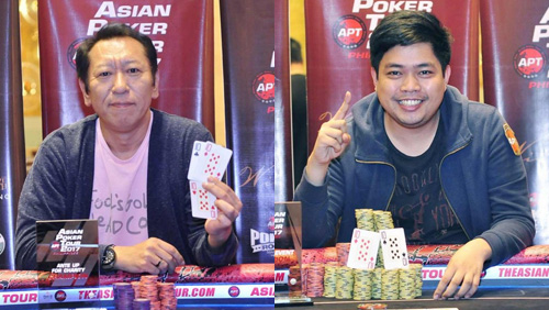 Emmanuel Segismundo and Tetsuya Tsuchikawa win the first side event trophies