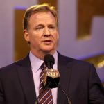 Roger Goodell clams up when colleagues' talk turns to gambling