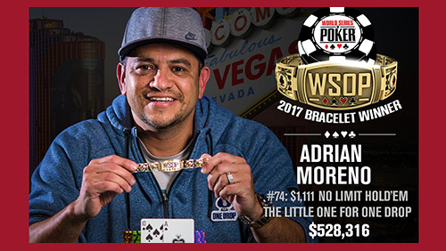 WSOP review: Adrian Moreno wins the Little One for One Drop