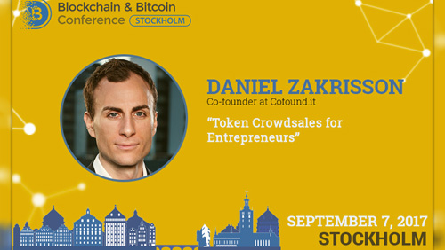 Daniel Zakrisson, speaker at Blockchain & Bitcoin Conference Stockholm, to answer 5 key questions regarding crowdsale