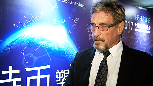 John McAfee: 'Worldwide phenomenon' Bitcoin frightens governments