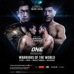 Full card announced for ONE: Warriors of the World in Bangkok on 9 December