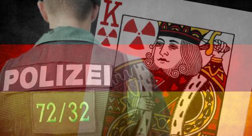 German police investigating radioactive playing cards