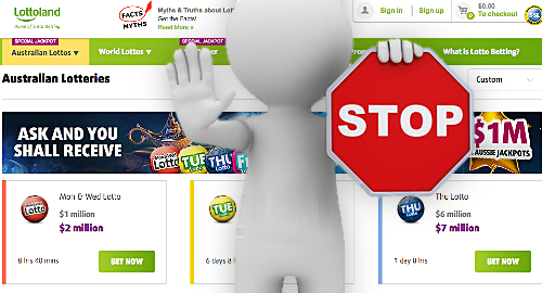 Lottoland ordered to stop taking wagers on Australian lotteries