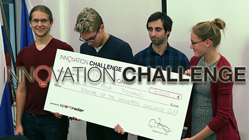 "Sportradar announces ""Team RevolutION"" as winners of the Innovation Challenge 2017"