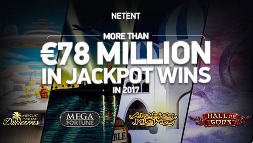 NetEnt's life-changing jackpots payout more than €78 million in 2017