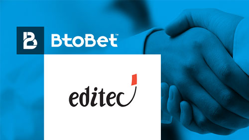 TOP OPERATOR EDITEC CHOSE BTOBET AS TECHNOLOGICAL PARTNER TO GROW ITS BUSINESS ON LINE, ACROSS THE WHOLE AFRICAN CONTINENT