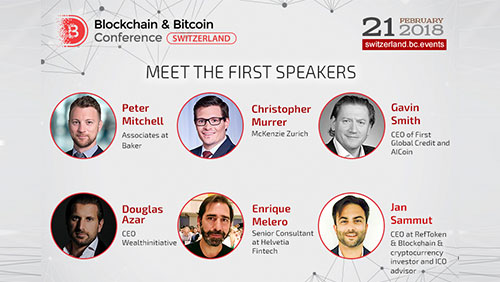 Announcement of speakers in Blockchain & Bitcoin Conference Switzerland