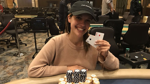 Cat Valdes struts her poker stuff