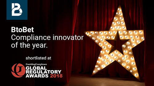 GLOBAL REGULATORY AWARDS 2018 BTOBET SHORTLISTED AS COMPLIANCE INNOVATOR OF THE YEAR