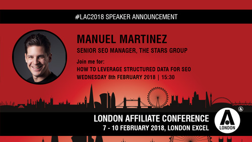Stars Group's Manuel Martinez discusses leveraging structured data for SEO at LAC 2018