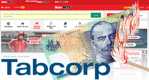 Tabcorp profit falls on Tatts merger costs, Sun Bets suckiness