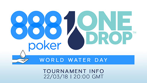 888Poker partner with One Drop; Dominik Nitsche to appear in the Big One