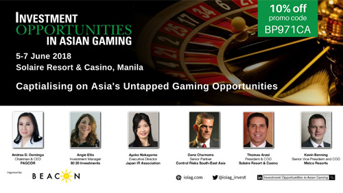 The first ever summit focusing on Investment Opportunities in Asian Gaming to be held in Manila this June