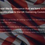 Pinnacle withdraws UK online gambling license application