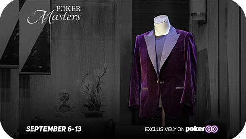 Poker Masters returns in the fall; seven events; purple jacket