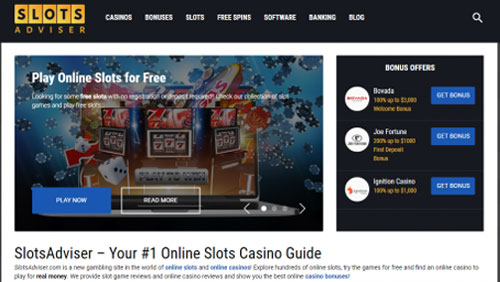SlotsAdviser.com relaunches with a great new look and lots more features for online slots fans