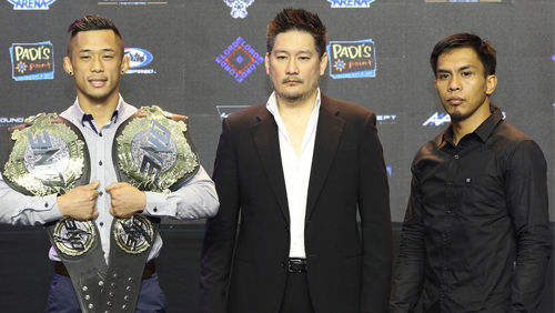 Kevin Belingon and Martin Nguyen face-off at ONE: Reign of kings press conference