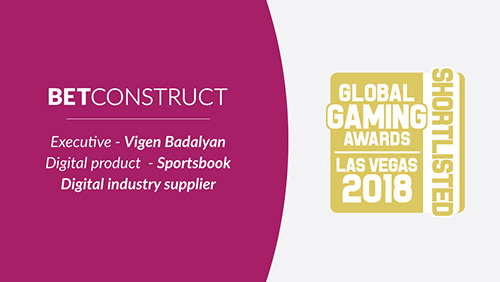 BetConstruct CEO and Founder Vigen Badalyan shortlisted in the Executive category at GGA