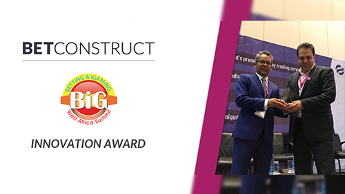 BetConstruct wins the Innovation Award at SBWA 2018
