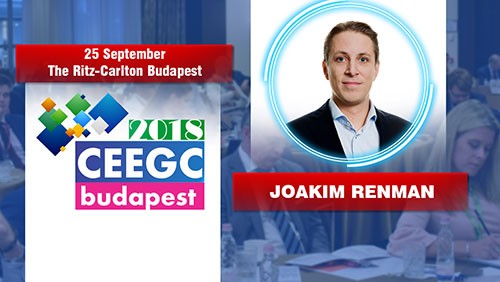Joakim Renman (Scout Gaming Group) will join the Innovation Talks - Evolution of technology vs Gambling Regulators at CEEGC2018