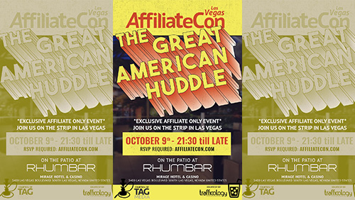 Affiliates RSVP for AffiliateCon's Great American Huddle in Las Vegas