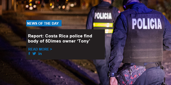 Report: Costa Rica police find body of 5Dimes owner 'Tony'
