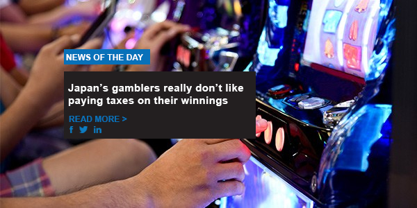 Japan's gamblers really don't like paying taxes on their winnings