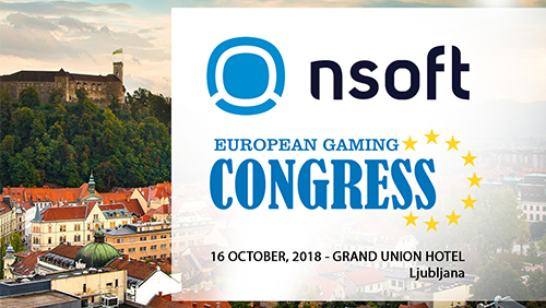NSoft becomes General Sponsor at the inaugural European Gaming Congress (EGC 2018) Ljubljana