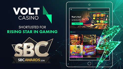 Volt Casino fully electrified with SBC Awards shortlisting