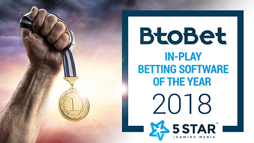 BTOBET RECOGNISED AS 'IN-PLAY BETTING' INDUSTRY LEADER