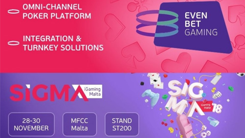 EvenBet to unveil its full-stack poker portfolio at SiGMA
