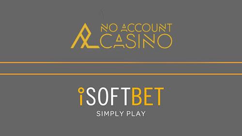 iSoftBet agrees NoAccountCasino content partnership