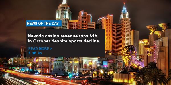 Nevada casino revenue tops $1b in October despite sports decline