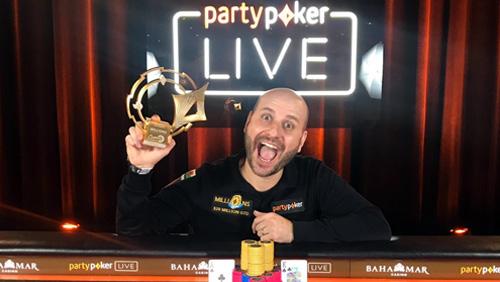 partypoker Caribbean Poker Party: Roberto Romanello wins the $10k High Roller