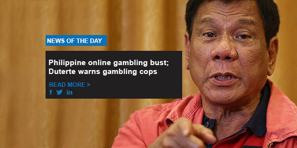 Philippine online gambling bust; Duterte warns gambling cops