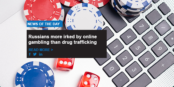 Russians more irked by online gambling than drug trafficking