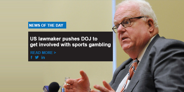US lawmaker pushes DOJ to get involved with sports gambling