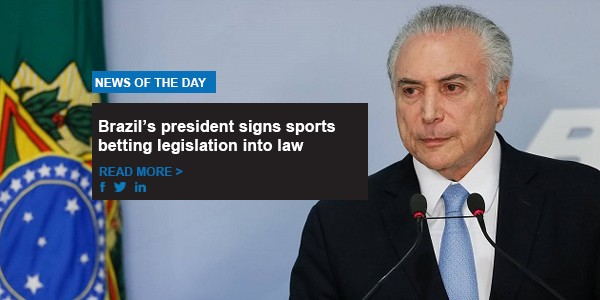 Brazil's president signs sports betting legislation into law