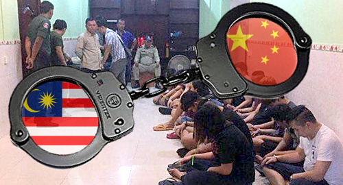 Malaysian/Chinese online gambling ring rumbled in Poipet