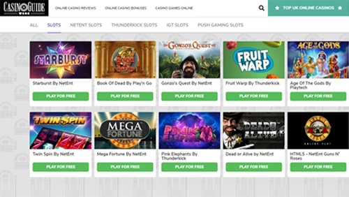 CasinoGuide expands Slots selection with new providers